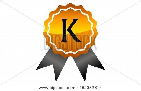Logo Quality Ribbon Guarantee Promotion Initial K