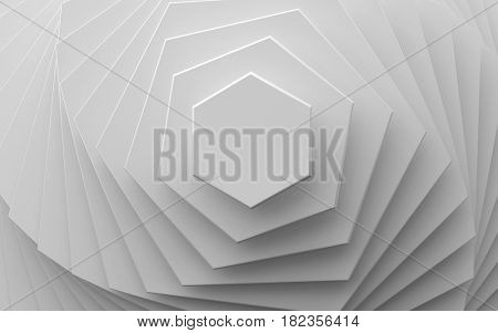 white background of different scale hexagons