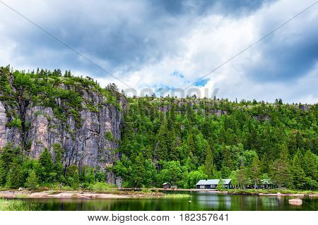 Norway, stunning landscape, lake view norway mountain