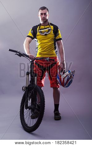 Portrait Of A Professional Cyclist.