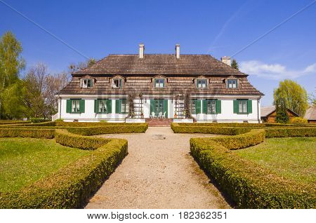 An Historic Manor House In The Polish Countryside.