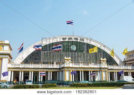 Bangkok, Thailand. - Feb 09 2015: Bangkok Railway Station(krungthep Station, Hua Lamphong Station).