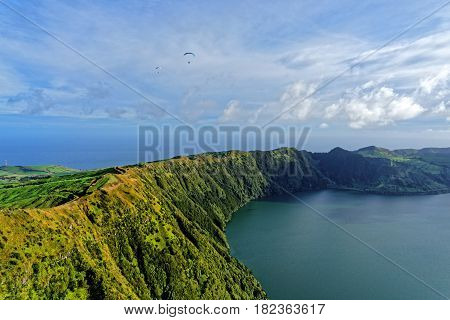 Azores Island View From Above. The Azores, An Autonomous Region Of Portugal, Are An Archipelago In T