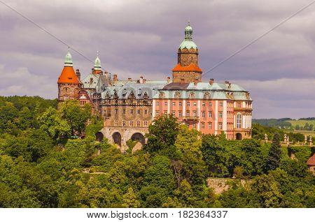 Ksiaz Castle In Walbrzych.
