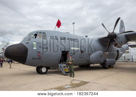 Lockheed Wc-130J Weatherbird Airplane