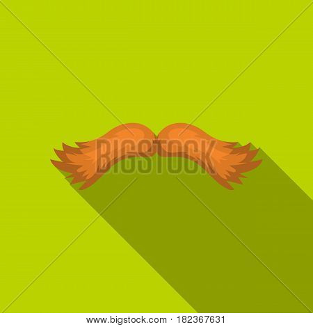 Man's mustache icon in flate style isolated on white background. Beard symbol vector illustration.