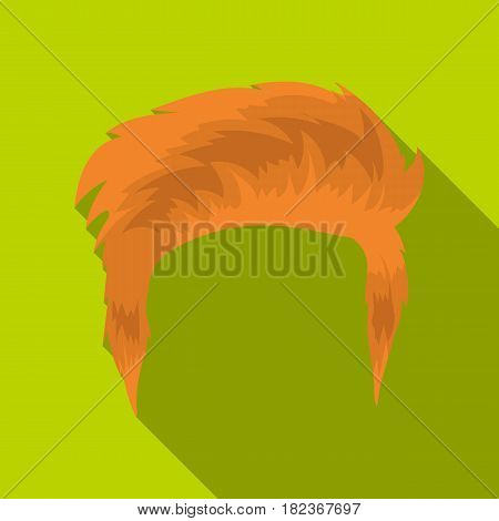 Man's hairstyle icon in flate style isolated on white background. Beard symbol vector illustration.