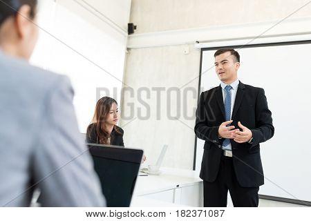 Businessman having presentation in the office