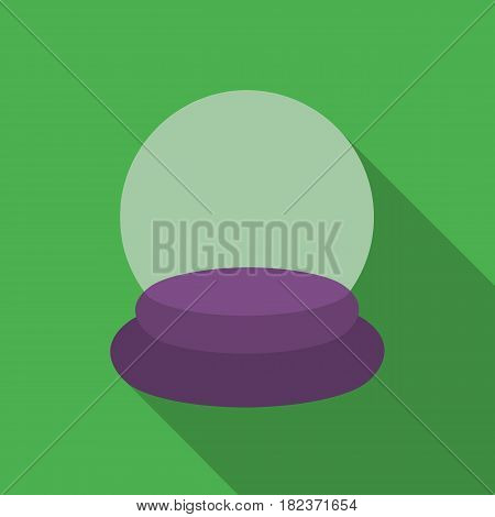 Crystal ball icon in flate style isolated on white background. Black and white magic symbol vector illustration.