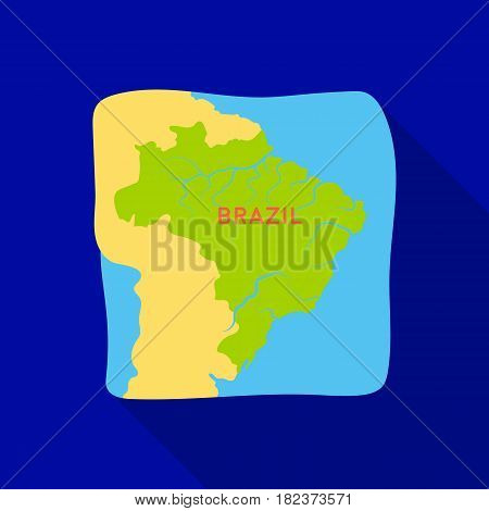 Territory of Brazil icon in flate design isolated on white background. Brazil country symbol stock vector illustration.