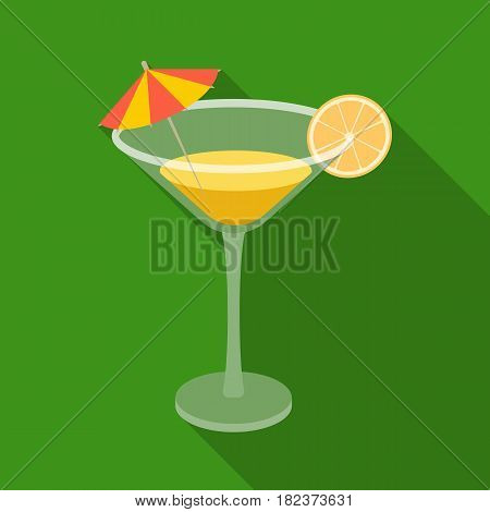 Lemon cocktail icon in flate design isolated on white background. Brazil country symbol stock vector illustration.
