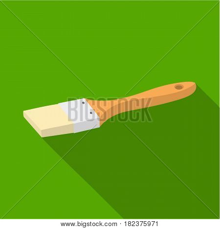 Paintbrush icon in flate style isolated on white background. Build and repair symbol vector illustration.
