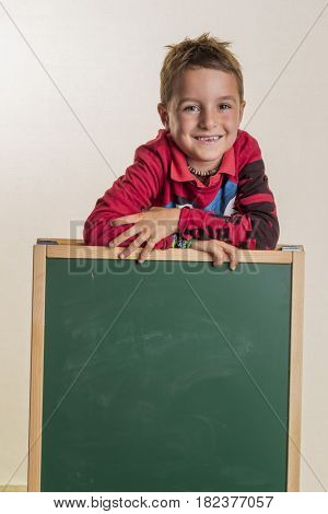schoolchild with school board