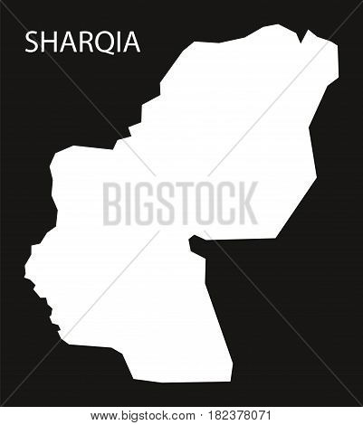 Sharqia Egypt Map Black Inverted Silhouette Illustration