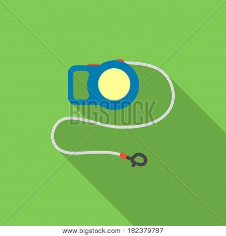 Pet lead icon in flate style isolated on white background. Cat symbol vector illustration.