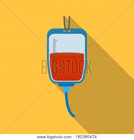 Blood donation icon in flate design isolated on white background. Charity and donation symbol stock vector illustration.