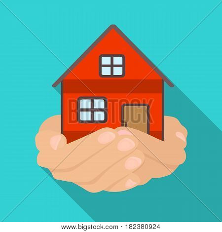 Property donation icon in flate design isolated on white background. Charity and donation symbol stock vector illustration.
