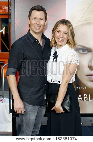 Michael Cameron and Beverley Mitchell at the Los Angeles premiere of 'Unforgettable' held at the TCL Chinese Theatre in Hollywood, USA on April 18, 2017.