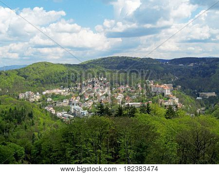 View From Above Karlovy Vary, Czech Republic.