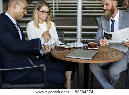 Business People Men Women Talking Break