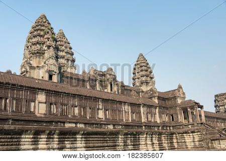 Siem Reap, Cambodia - Feb 3 2015: Angkor Wat. A Famous Historical Site(unesco World Heritage Site) I