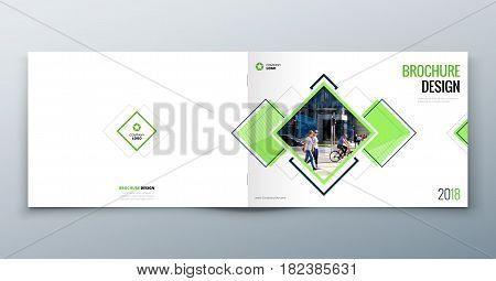 Landscape Brochure design for architecture, travel, real estate, fashion, property, education, eco, sport, transport. Corporate business template for rectangle brochure report catalog magazine