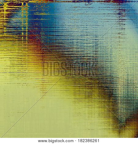 Decorated texture, antique vintage background with different color patterns: yellow (beige); brown; blue; red (orange); cyan