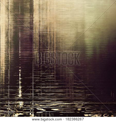 Old grungy stylish composition, vintage texture with different color patterns: yellow (beige); brown; gray; purple (violet); black