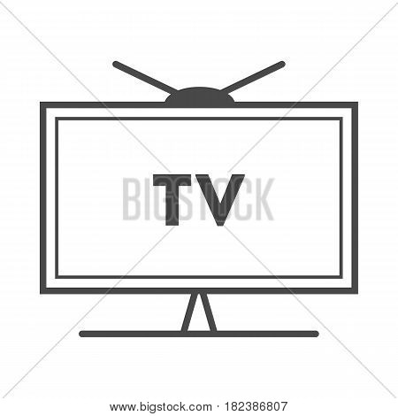 TV advertisement icon vector illustration isolated on white background. Social media marketing sign, television advertising linear pictogram.