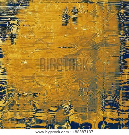 Vintage style background with ancient grunge elements. Aged texture with different color patterns: yellow (beige); brown; gray; blue