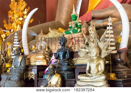 Chiang Rai, Thailand. - Mar 1 2015: Wat Phra That Phukhao In Golden Triangle. A Famous Tourist Spot