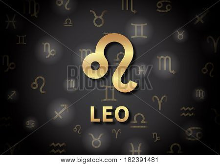 An Illustration Representing The Zodiac Sign Of Leo