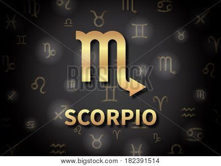 An Illustration Representing The Zodiac Sign Of Scorpio