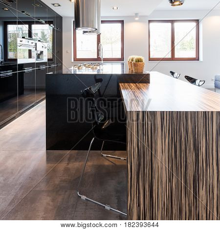 Elegant Kitchen With Large Countertop