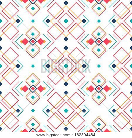Geometric seamless pattern with ethnic ornament. ethno aztec abstract background