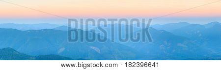 Summer Sunrise Carpathian Mountain.