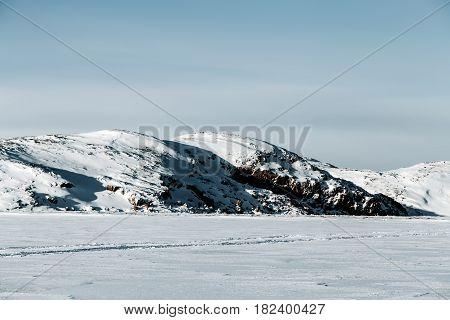 Kola Peninsula At Winter. Northern Russia Region