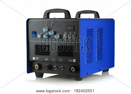 the apparatus is argon-arc welding on white background