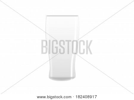 illustration of an empty pint glass on a white background