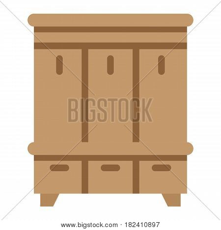 Hallway closet flat icon, Furniture and interior element, halltree vector graphics, a colorful solid pattern on a white background, eps 10.