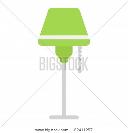 Floor lamp flat icon, Furniture and interior element, vector graphics, a colorful solid pattern on a white background, eps 10.