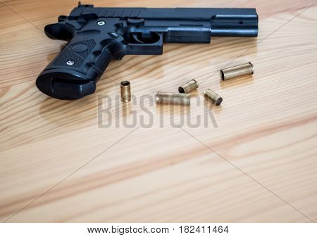Gun On The Floor, Crime, The Shell Of The Bullets Next To The Gun, Robbery, Murder, Crime, Mafia, Cr