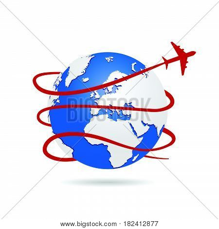 Flying Around The World Illustration Two