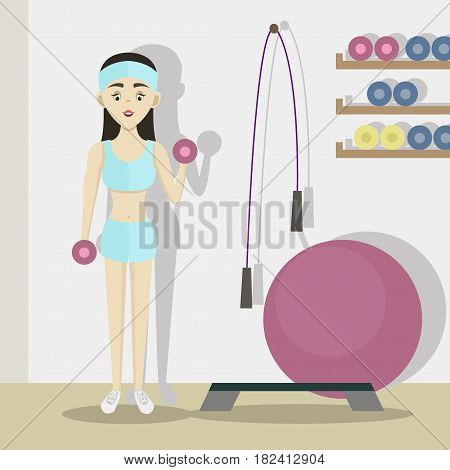 Coach sport with standing position. Isolated on background. Vector illustration, EPS 10