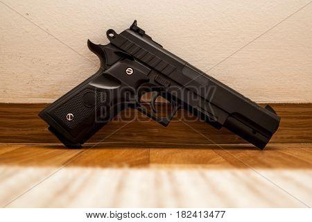 Gun On The Floor, Crime, Robbery, Murder, Crime, Mafia, Crime Scene