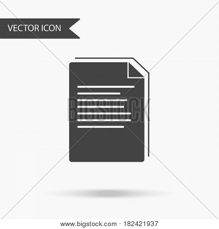 Vector business icon stack of paper sheets. Icon for for annual reports charts presentations workflow layout banner number options step up options web design. Contemporary flat design.