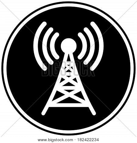 A vector illustration of a broadcasting tower icon.