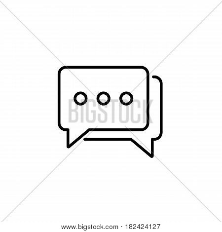 Social engagement line icon, seo and development, Speech bubbles sign, a linear pattern on a white background, eps 10.
