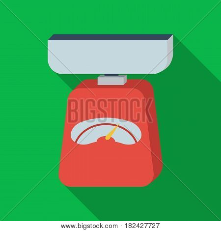 Kitchen scale icon in flate style isolated on white background. Kitchen symbol vector illustration.