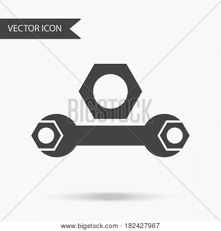 Vector Business Icon Wrench And Nuts. Icon For For Annual Reports, Charts, Presentations, Workflow L